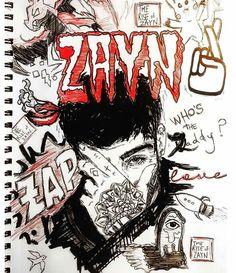One Direction Fan Art, One Direction Drawings, 0ne Direction, Zayn Malik Style, Zayn Malik Photos, Cool Sketches, Drawing Sketches, Tattoo Drawings, Art Drawings
