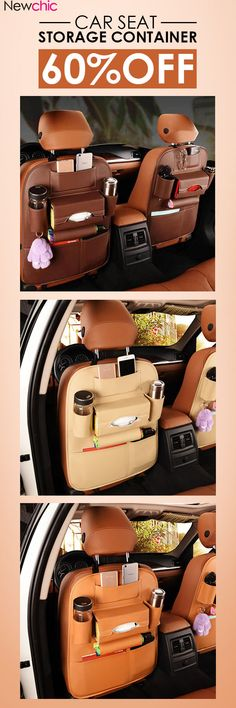 US1599 5 Styles Leather Car Storage Bag Multi Compartment Seat Container Outdoors