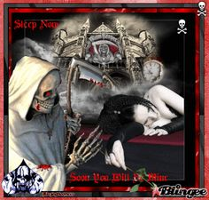 """femal gothic grim repers   This """"grim reaper"""" picture was created using the Blingee free online ..."""