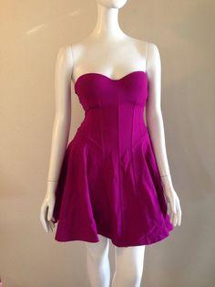 7cd0389aa20 Victoria s Secret 32B Strapless Ponte Push-Up Bra-Top Dress Fuchsia Rhumba   148