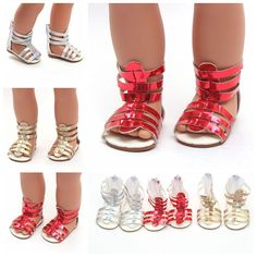 2pcs Silver Grey Shoes Summer High Heels Sandal Accessories For  Doll Gift P*CA