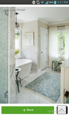 Open clean flow, stand alone tub built in closet