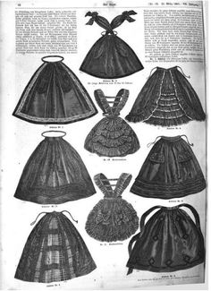 Aprons from Der Bazar, March 1861. | In the Swan's Shadow