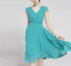 Spring summer chiffon dress lady women clothing gown dress (BSG256)