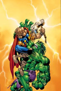 hulk and thor Marvel Vs, Marvel Comics, Hulk Art, Red Hulk, Hero Wallpaper, Hulk Smash, Fantasy Images, Incredible Hulk, Comic Book Heroes