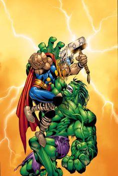 hulk and thor Marvel Vs, Marvel Comics, Hulk Art, Red Hulk, Hero Wallpaper, Hulk Smash, Fantasy Images, Incredible Hulk, Comic Book Heroes