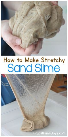 The Best Sand Slime Recipe - Frugal Fun For Boys and Girls How To Make Sand, How To Make Slime, Making Slime, Sand Slime, Diy Slime, Summer Crafts, Summer Fun, Summer Activities For Kids, Stem Activities