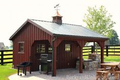 Metal Sheds with overhang | 14'x16' Custom Garden Shed with Board & Batten Siding, Mahogany Stain ...
