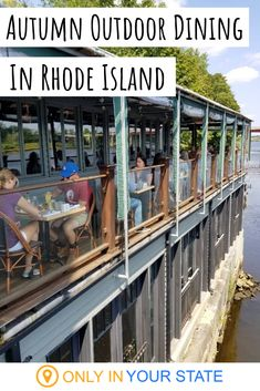 This Rhode Island restaurant on the river is perfect for autumn dining. We love the waterfront views and cool fall breeze. Plus, the food is fantastic. Riverside Restaurant, Places To Travel, Places To Go, Brunch Food, Deck Patio, Architecture Old, Autumn, Fall, Rhode Island