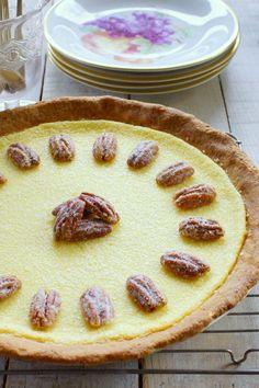 Buttermilk Pie with Pecan Crust / Patty's Food