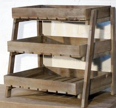 Wooden Crate Display Stand   3 Tier Display Stand