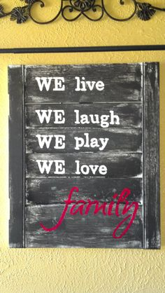 Wooden Family Sign by CovaDesignSalvageArt on Etsy, $28.00