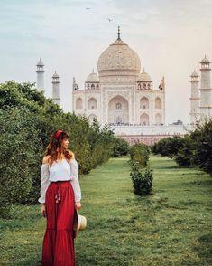 Loved strolling through these gardens after viewing the magnificent Taj Mahal by dusk . Bali Travel, India Travel, Travel Usa, India Decor, Travel Icon, Travel Goals, Tara Milk Tea, Taj Mahal, Travel Clothes Women