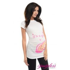 It's a Girl-Adorable Slogan Cotton Printed Maternity Pregnancy Top 2001 White - Go for a statement t-shirt this season with our chic and adorable printed maternity IT'S A GIRL t-shirt. T-shirts are made of comfortable and soft cotton and will last through out your pregnancy. Pair it with our maternity leggings or your favourite pair of skinny jeans and boots. Available in 4 colours.
