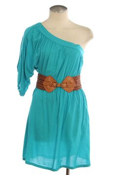 Jade dress w/belt. Looks great with cowboy boots or wedge. http://www.facebook.com/media/set/?set=a.239751822768681.54732.168973483179849&type;=3#!/pages/Dress-4-Less/168973483179849