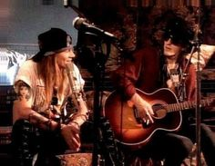 Axl Rose and Izzy Stradlin.