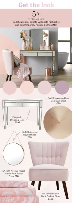 Makeup Room Gold Color Schemes 42 Super Ideas You are in the right place about makeup room ideas fai Bedroom Colour Palette, Bedroom Colors, Bedroom Decor, Blush Bedroom, Fluffy Cushions, Room Color Schemes, Bedroom Vintage, Interior Exterior, Beauty Room