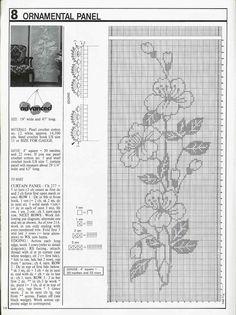 Crochet Curtain Patterns Part 5 - Beautiful Crochet Patterns and Knitting Patterns Crochet Curtain Pattern, Free Crochet Doily Patterns, Filet Crochet Charts, Crochet Curtains, Curtain Patterns, Crochet Diagram, Knitting Charts, Crochet Designs, Crochet Doilies