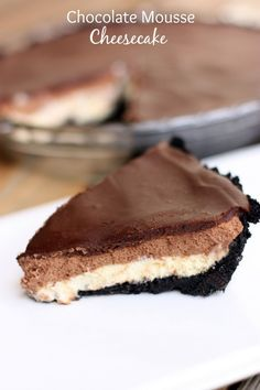 Chocolate Mousse Cheesecake | Tastes Better From Scratch