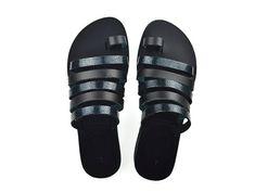Made to Order Sandals - Handmade Greek Leather Sandals - Metallic Flip Flop Sandals - Ancient Greek Style Sandals - Toe Ring Sandal - Slides