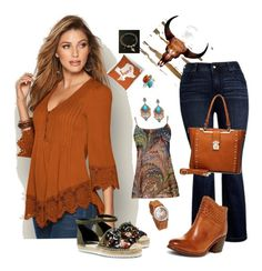"""Friday is Jeans Day! 4 Inspired by Home."" by aurorasblueheaven on Polyvore featuring Parvez Taj, Bling Jewelry, Venus, Melissa McCarthy Seven7, Simply Aster, Kelsi Dagger Brooklyn, MKF Collection, venusfashion and plus size clothing"