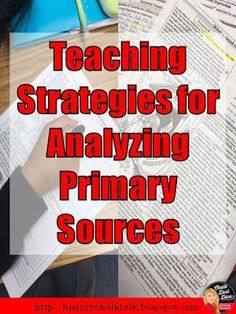Check out these great strategies when teaching how to analyze primary and secondary sources. Also included is a FREE SOAPStone worksheet. Click here to read it now!
