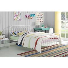Shop for Novogratz Bright Pop Metal Bed. Get free shipping at Overstock.com - Your Online Furniture Outlet Store! Get 5% in rewards with Club O! - 21737604