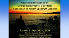 Dr. Richard Frye, Director of Autism Research at Arkansas Children's Hospital Research Institute, University of Arkansas for Medical Sciences, gives a presen...