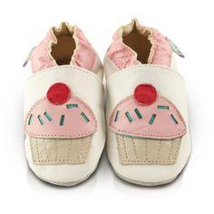 Snuggle Feet – Suaves Zapatos De Cuero Del Bebé Pastelito (0-6 meses)