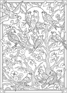 Welcome to Dover Publications Detailed Coloring Pages, Adult Coloring Book Pages, Mandala Coloring Pages, Coloring Pages To Print, Colouring Pages, Coloring Books, Coloring Pages For Grown Ups, Colorful Pictures, Dover Publications