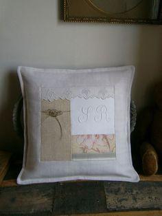 © http://latelierdaston.canalblog.com/ Housse de coussin patchwork 40 cm x 40 cm