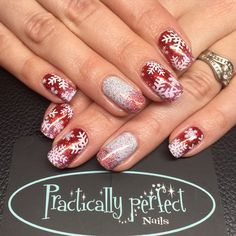 CND Shellac in wildfire with glitter fades and stamping. All work is my own.