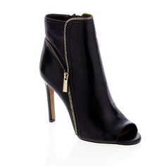 """Vince Camuto """"Klayton"""" Leather Open-Toe Shootie. available for purchase at www.hsn.com. now this is the kind of unconditional love that you want to take home with you- all vince camuto, all the time!! xoxo."""