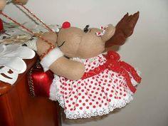 Reindeer Craft, Merry Christmas, Christmas Ornaments, Doll Patterns, Teddy Bear, Diy Crafts, Dolls, Holiday Decor, Manta Polar