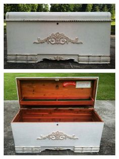 Hope Chest Makeover By Richardson Restoration & Design - Featured On Furniture Flippin'