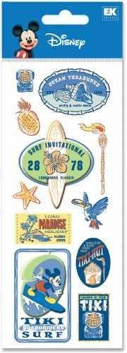 Disney Mickey Mouse Hawaiian Holiday Surfing 3D Stickers -- Check out this great product-affiliate link.