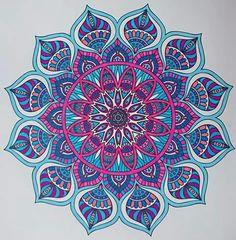 "Using a ""Souffle"" White Gel Pen and Neon Gel Pens on Your Artwork Especially, on a Dark Background THIS Pin a YES,, -- Jaye January Mandala Art Lesson, Mandala Painting, Mandala Drawing, Mandala Tattoo, Doodle Art Drawing, Art Drawings, Mandala Wallpaper, Elefante Hindu, Mandala Meditation"