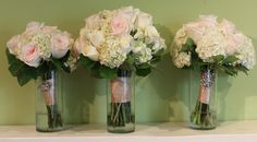 Bridal and bridesmaids bouquets by Twigs in Greenville, SC