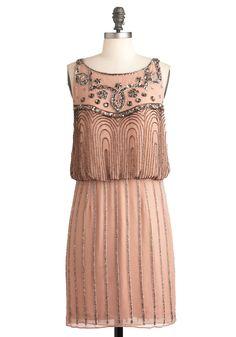 A Friend in Beads Dress | Mod Retro Vintage Dresses | ModCloth.com >> Would make for a beautiful bridesmaid dress!