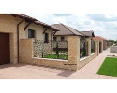 Sweet Home Design, Home Design Plans, Front Yard Fence, Front Gates, Fence Design, Garden Design, House Design, Modern Luxury Bathroom, House Games