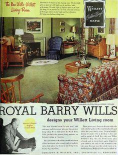 Willett Colonial Living Room Furniture, October 1948 | Flickr - Photo Sharing!
