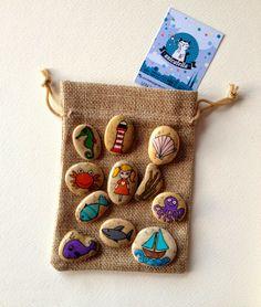 Ręcznie malowane kamienie metodą kropkową, Painted stones and rock by Unicatella, stones painting, malowane kamienie, Anita Bujakowska,