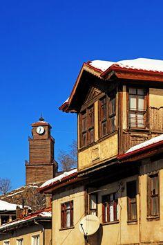 Mudurnu Houses and Clock tower / Mudurnu,Bolu,Turkey