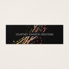 Artistic Expressive Mini Business Card - diy cyo customize personalize design