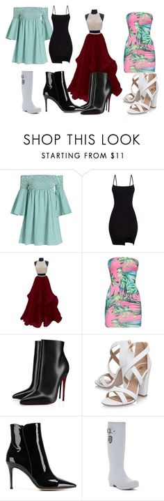 """""""Untitled #108"""" by elizabethsimmons-2 on Polyvore featuring Christian Louboutin, Miss KG, Gianvito Rossi and Kamik"""