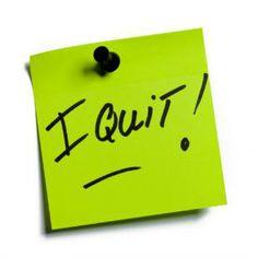 Als je overweegt om ontslag te nemen.. -
