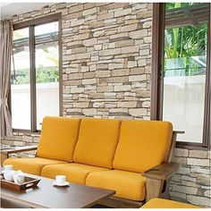 Stone Brick Pattern Vinyl Contact Paper Peel Stick Wallpaper  #VBS