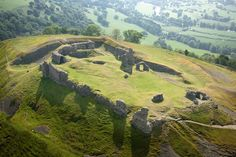 Castell Dinas Bran - Dinas Bran translates as Crow City in English, but it is usually known as Crow Castle. Castell Dinas Bran is set high above Llangollen and can be seen for miles around. Castles of my ancestors.