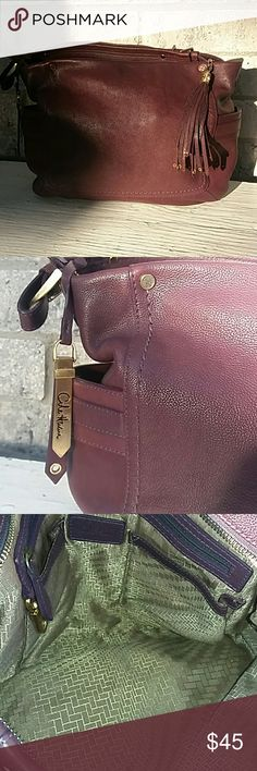 Burgundy COLE HAAN shoulder purse Excellent conditions fast shipping Cole Haan Bags Shoulder Bags
