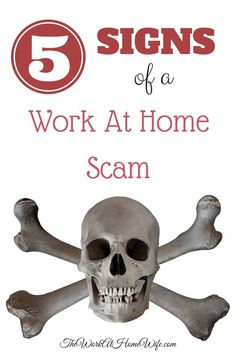 Unfortunately, a multitude of unscrupulous companies have cropped up on the internet over the past several years, making the search for a legitimate home based business a bit of a challenge.  Here are 5 signs of a work at home scam. avoiding scams, work at home scams, making money scams